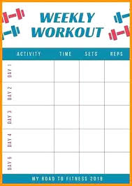 Work Out Charts Template Workout Timetable Template Nstv Me