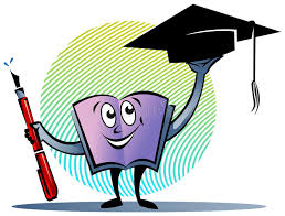 text book with pen and graduation cap stock vector ilration of educated achievement