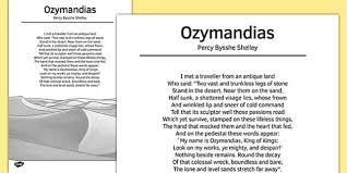 ozymandias by percy bysshe shelley poem poem poetry