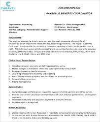 Payroll Accounting Job Description 15 Payroll Accounting Job Description Statement Letter Threeroses Us