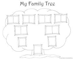 free family tree template basic simple word templates
