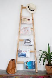 Ladder Magazine Rack by A Pair & A Spare - 10 DIY Storage Solutions