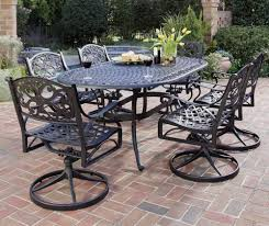 black outdoor dining set wicker patio furniture sets aluminum rattan metal table