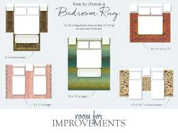 rug size for king bed how to choose a bedroom rug area rug size guide king