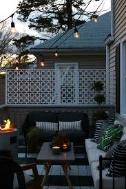 Patio Accent Lights How We Hung Our Deck String Lights Privacy Screen And
