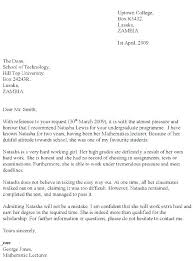 Example Reference Letter Ideas Collection Employment For Of