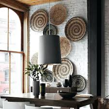 wicker wall baskets wicker wall plates magnificent modern wall decoration with ethnic wicker plates bowls and baskets
