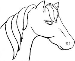 Horse Head Coloring Page Dapmalaysiainfo