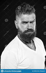 Hair Designs For White Men Hair Design Trends Serious Hipster With Long Beard And