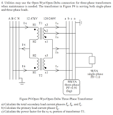 4 utilities may use the open wye open delta conne chegg com open delta connection for earth fault protection at Open Delta Transformer Connection Diagram
