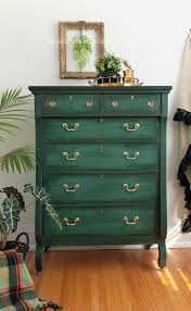 Two tone furniture painting Flat Black Empire Dresser Painted In Layered Chalk Paint Salvaged Inspirations Layering Chalk Paint Salvaged Inspirations