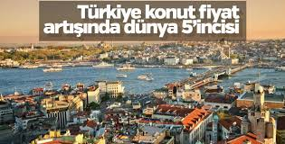 Türkiye konut fiyat artışında dünya 5'incisi oldu