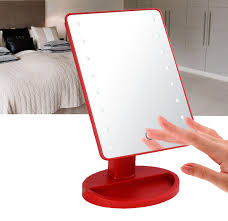 tabletop vanity mirror with lights. 16 led makeup mirror with lights and tray - hollywood backstage portable tabletop vanity