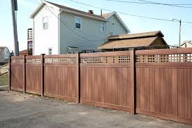 Vinyl Fence Colors Tan Vinyl Privacy Fence Posts Bufftech Vinyl