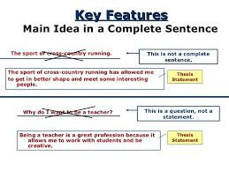 thesis for response to literature  complete sentence 8
