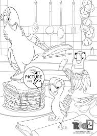 Small Picture Parrots cooking coloring pages for kids printable free Rio 2