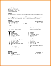 Skills List For Resume 100 Orthodontist Job Description Address Example Resume Dental 84