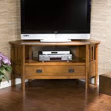 Living Room Media Cabinet Carson Oak Corner Media Stand Media Stands Consoles Living Room