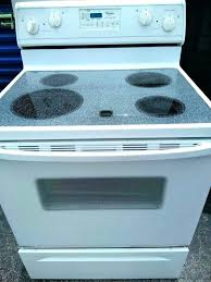 glass top range whirlpool white appliances in west palm beach fl flat stove cleaning