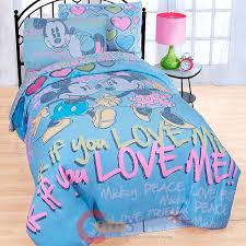 disney mickey minnie mouse 7pc full size bedding comforter set sheet pillow set