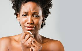 Black woman crying for sex