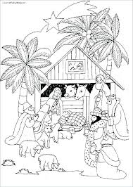 Coloring Nativity Scene More Coloring Pages Manger Nativity Scene