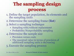 The Sampling Design Process Ppt Fundamentals Of Sampling Method Powerpoint