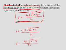 6 the quadratic formula which gives the solutions of the quadratic equation with real coefficients a b and c when is