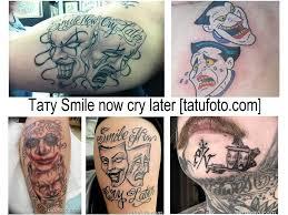 значение тату Smile Now Cry Later фото рисунков эскизы история