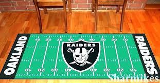 rug area raiders football field runner man cave mat rugs ideas fi man cave rug