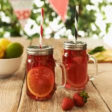 Mason Jars Set Of Two Glass Mason Jars By The Little House Shop