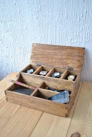 beautiful desk box organizer desk organizer wood organizer rustic mens watch box for 4