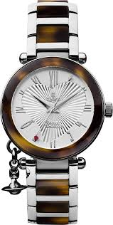 amazon co uk vivienne westwood watches vivienne westwood women s orb quartz analogue display watch silver dial and multi colour stainless steel