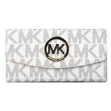 MichaelKorsOutlet Michael Kors Logo Signature Large White Wallets 29.Don t  miss out.