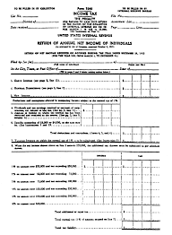 Printable Tax Form Origin of the 100 Income Tax Form 2