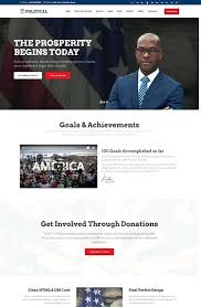 Political Website Templates Election Candidate Profile Template