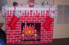 spectacular cardboard fireplace for your diy faux gate fake cardboard you diy fake fireplace