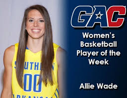 "SAU's Wade GAC basketball ""Player of the Week"" -- a first for the Lady  Muleriders 
