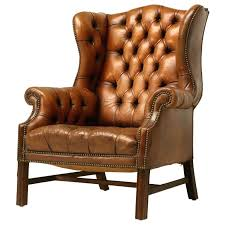 c1900 english pendale tufted leather wing back chair at 1stdibs wingback leather chair antique leather wingback