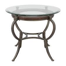macys macys artistica round glasetal end table nyc