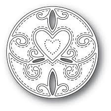 Scroll Heart Memory Box Die Scroll Heart Circle