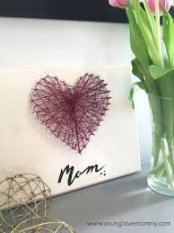 easy mothers day gifts mother s day string art craft cute crafts and homemade presents