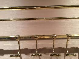 Solid Brass Coat Rack French Solid Brass Coat Rack and Wall Shelf 100th Century For Sale 99