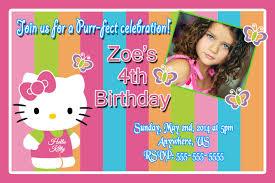 Hello Kitty Invitation Hello Kitty Rainbow Birthday Invitations