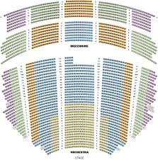 Pantage Theatre Seating Chart