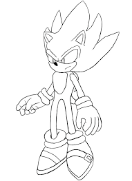 Coloriage Sonic Shadow Sonic The Hedgehog Super Sonic Coloring Pages