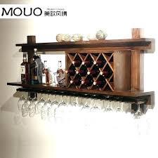 wall mounted metal wine rack vintageview 12 bottle glass 4 long stem holder