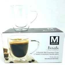espresso glasses double wall cup barista walled cups oz coffee mug bean martini kmart