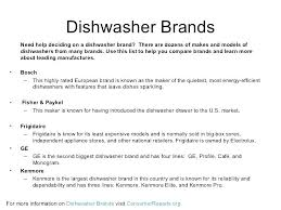 most reliable dishwasher. Most Reliable Dishwasher Brand Best Brands Names 2015 .