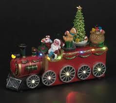 train with rotating christmas tree